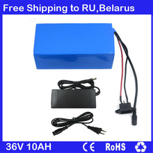 36V Electric Bike battery 36V 10AH Lithium ion Battery with PVC case 36V 10S 500W Battery 42V 2A charger Free Shipping To RU