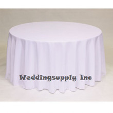 30pcs good quality cheap 90''(230cm) Round 100% polyester table linen many colour available