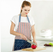 Adult Stripe Bib Apron Thick cotton with 2 Pockets Kitchen Baking Mats Women Painting Clothing Moustache Design Antifouling Oil