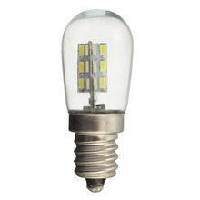 2W E12 Screw Base High Bright 3014 SMD 24 LED Glass Shade Light Lamp Bulb Pure Warm White 220V For Sewing Machine Refrigerator