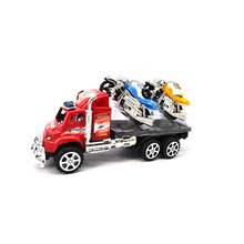 Chanycore Mini CarToys Vehicle Sets one car with two bikes Educational excavator Toys Kids's Toys random delivery 5177(China)