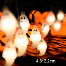 10 LED Halloween Decor Pumpkins/Ghost/Spider/Skull LED String Lights Lanterns Lamp for DIY Home Outdoor Party Halloween Supplies