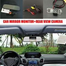 HD CCD Night Vision Car Rear View Backup Camera + 5inch Color TFT LCD Screen Car Mirror Monitor For SEAT Exeo / SEAT Toledo(China)