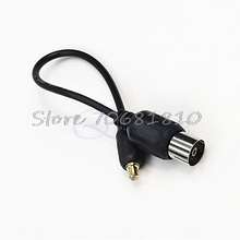 IEC to MCX Antenna Pigtail Cable Adapter Connector For USB TV DVBT Tuner  Drop Shipping