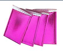50pcs Usable space pink Poly bubble Mailer envelopes padded Mailing Bag Self Sealing Bubble Courier Envelope Pouch 15x13cm+4cm(China)