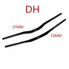 Full carbon fiber mountain bike handlebar yanerwo used DH MTB handlebar carbon handle 750mm/820mm(China)