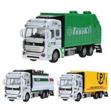 1:48 Scale Pull Back Alloy Car Model Plastic Watering-cart Rubbish Truck Express Car Toy Mini Simulated Model Truck