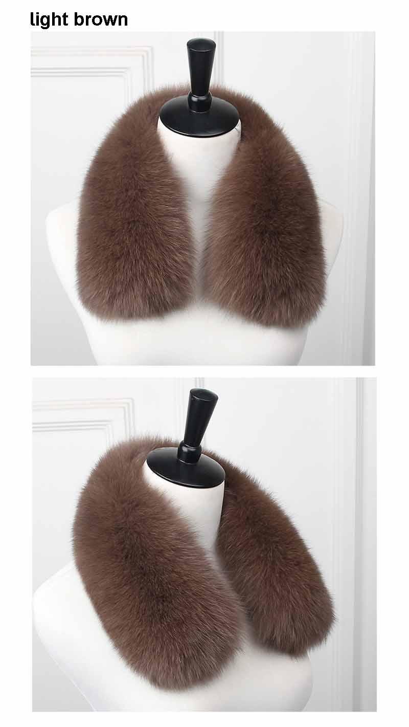 fox fur collar men light brown 2
