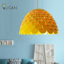 LICAN Postmodern Italian Fish Scales Pendant Chandeliers Lamps Armor Hanging white chandeliers lights metal chandeliers