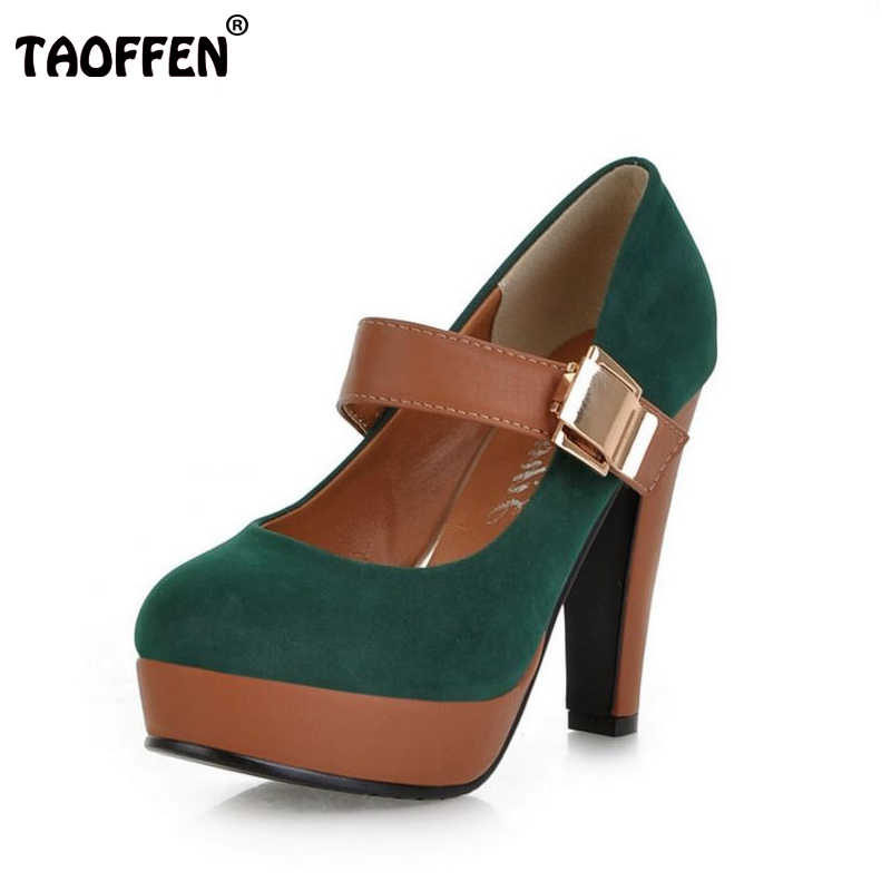 Women Stiletto High Heel Shoes Platform Buckle Lady Quality Footwear Fashion Escarpin Heeled Pumps Heels Shoes P2583 Size 34-43<br><br>Aliexpress