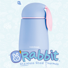 300ml Cute Rabbit Kids Sport Vacuum Cup Thermo Mug Insulated Stainless Steel Vacuum Flasks Thermoses Travel Drink Water Bottle