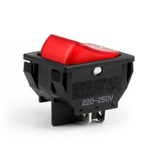 Areyourshop Rocker Switch Waterproof R13-87B Boat Rocker Switch 4Pin 2 Position DPST ON-OFF 10A/16A(China)