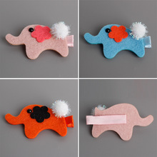 1 PCS New Lovely Cartoon Elephant Shape kids Hair Clips Princess Barrette Girls Hair Accessories Baby Hairpins Children Headwear