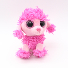 "Ty Beanie Boos Big Eyes 6"" Pink Poodle Dog Plush Animal Pet Toys"