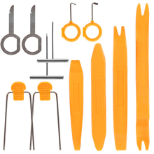 Auto Car 12pcs Pry Tools Car Door Panel Trim Dash Audio Radio Removal Installer Plastic Pry Tool Kit Vehicle Dismantling Device