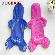 A106  Dog raincoat  waterproof Taffeta  Raincoat for 4 leg spring/autumn Clothing for Dogs Pets  Clothes