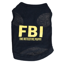 2017 FBI Pet Dog Clothes Fashion T-shirt Soft Dogs Clothes Pet Clothing Summer Cotton Shirt Casual Coats For Small Pets XS-L(China)