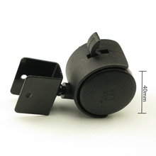4PCS  Black 40mm Replacement Swivel Casters   Office Chair Baby Crib Sofa Brake Plastic Rolling Caster Furniture