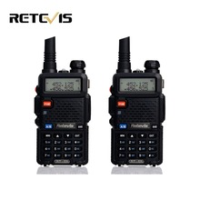 2pcs Professional Walkie Talkie Pair Retevis RT-5R 5W 128CH VOX Scan UHF VHF Dual Band Radio Portable Ham Radio Comunicador