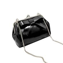 Discount 2017 Time-limited Real Bolsa new Arrival Color Mini Bag Fling Chain Big Bow Shoulder Bags Woman Messenger