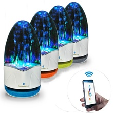 3.5mm Colorful Portable Bluetooth Speakers Wireless LED Music Fountain Water Dancing Speaker For iPhone iPad Phone Computer