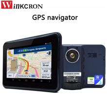 "7"" Android GPS Navigation Car DVR Camera Dual lens Rear view camera Full HD 1080P G-Sensor with Car Radar detector built 16GB"