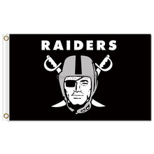 Oakland Raiders Flag 3 X 5 FT Banner 100 D Polyester NF*L Flag Super Bowl Champions Custom Banners Oakland Raiders Flag(China)