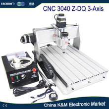 Hot sell CNC 3040 Z-DQ 3 axis engraving machine 3040Z-DQ wood carving router pcb cutting tool(China)