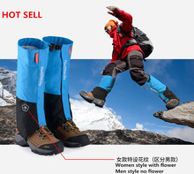 *Brand outdoor Hiking Trekking Gaiters shoes cover Camping hiking climbing skiing Waterproof boots Gaiters snow leg warmer