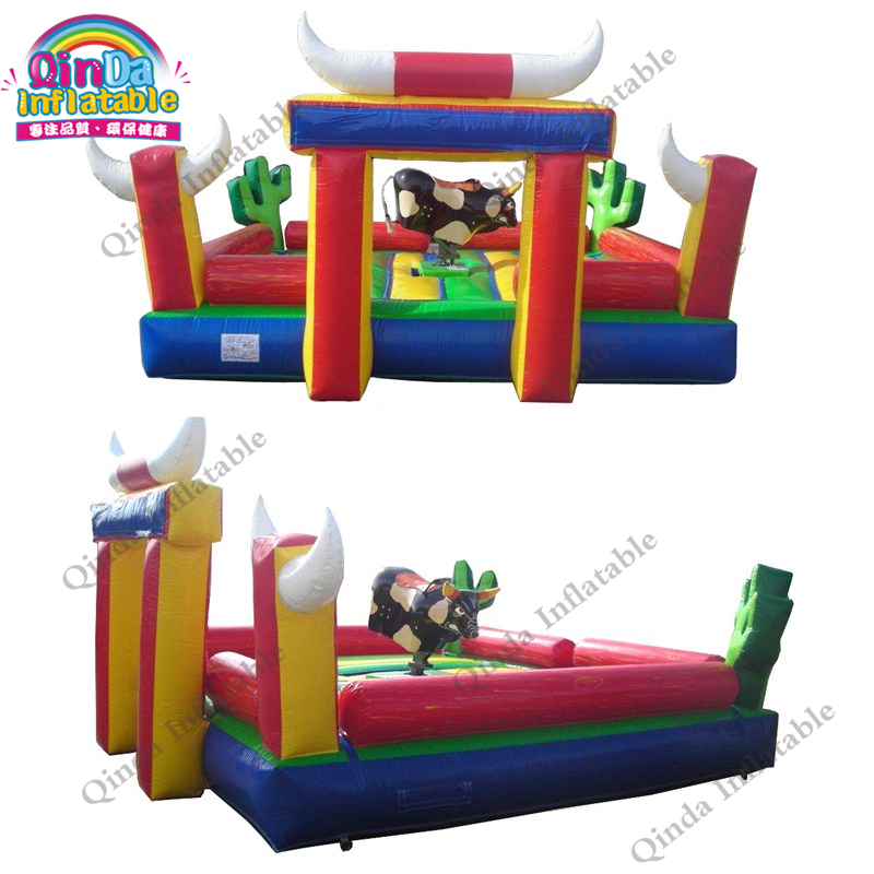 inflatable mechnical bull mat35