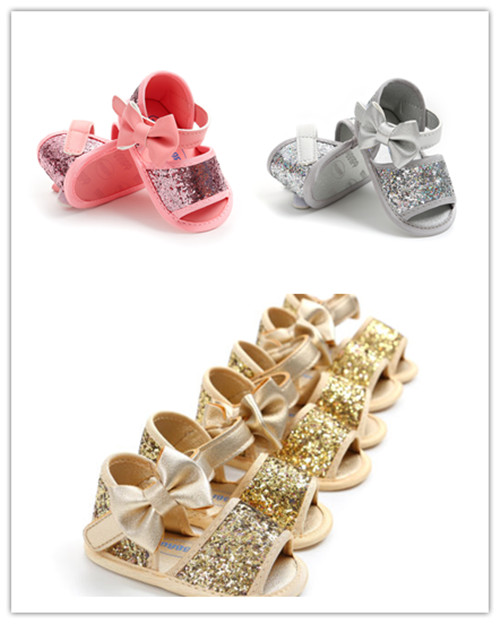 Adorable Summer Princess Baby Infant Kids Girl Soft Sole Crib Toddler Sandals Shoes 0-18M