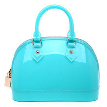 furly candy handbags women bags Transparent Crystal candy color with lock silicone bolsas femininas Summer shell pvc Should bags