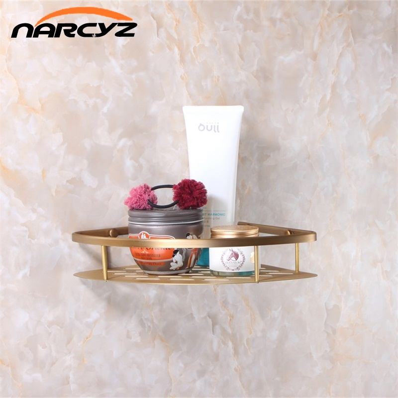 Classic Wall Mounted Antique Brass Bathroom Soap Basket Bath Shower Shelf Basket Holder Building Material Vintage Elegant 9013K<br>