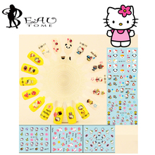 Beautome 6 Sheets/Pack HOT SALE QJ717-722&723-728 Hello kitty nail sticker sheet for water transfer nail sticker for 3d decals