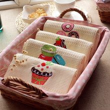 High-quality Embroidered Cotton Table Napkins Mat Cartoon Home Kitchen Table Towels Coasters Tea Towel 48*68cm
