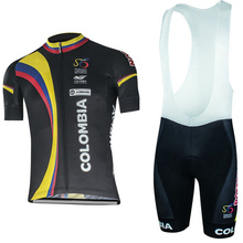 NEW Colombia black Team cycling jersey/ cycling clothing/Breathable sports wear cycling wear team Free Shipping customize(China)