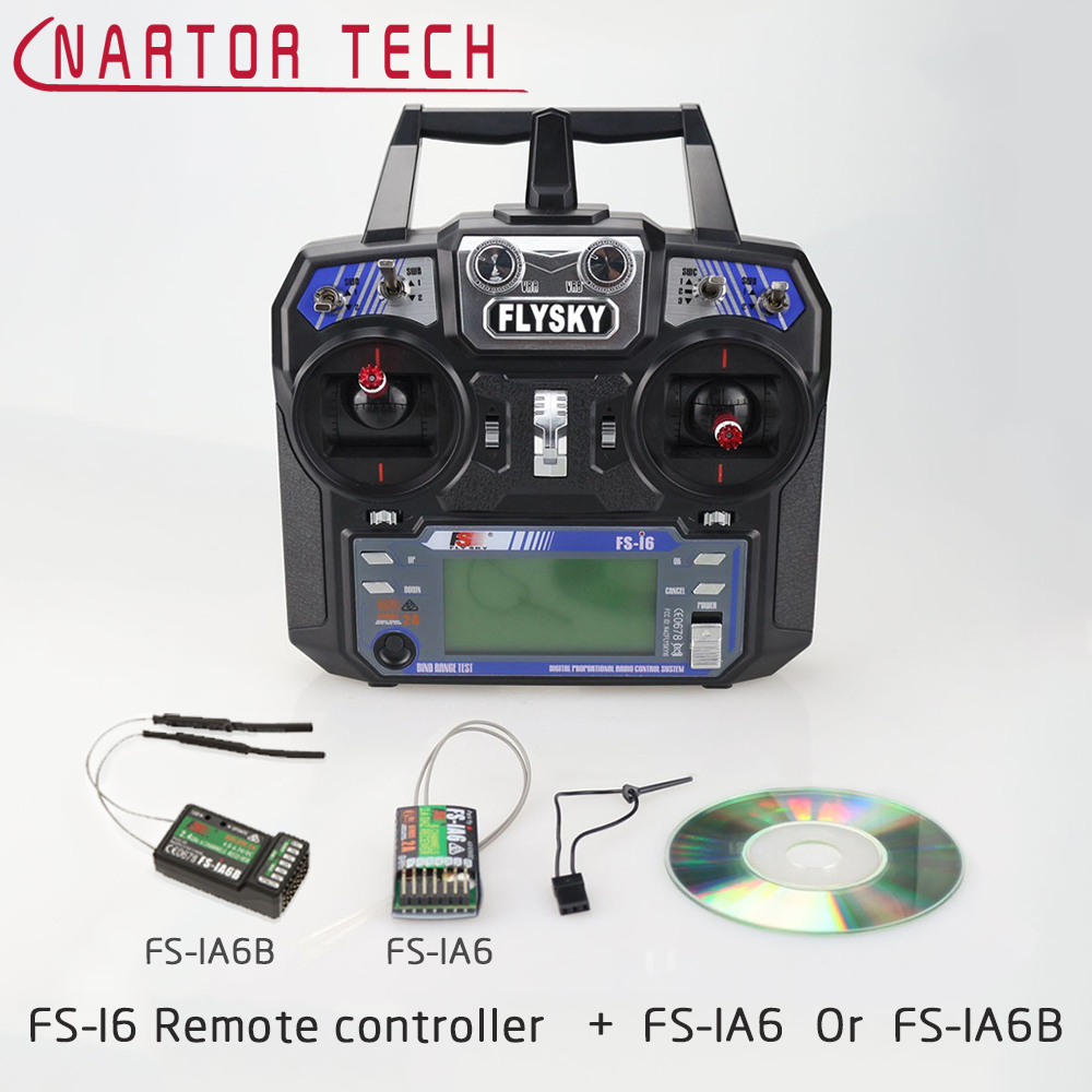 Flysky FS-I6 2.4G 6CH RC Transmitter With FS-iA6 RC Receiver For RC Car Boat