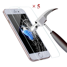 5PCS For Screenprotector iPhone 6 Premium Tempered Glass Screen Protector For iPhone 5S 6 6S 7 Plus 5 SE 5C 4S Protective Film