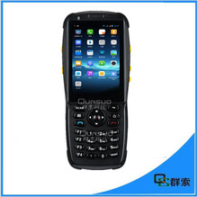 Mobile data terminal android rugged industrial pda with 3G wifi 2D laser barcode scanner and NFC reader