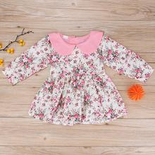 Buy Baby Kids Dresses Children Girls Long Sleeve Floral Princess Dress Spring Summer Dress Baby Girls Clothes roupas infantis menina for $5.67 in AliExpress store