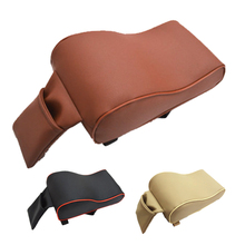Dewtreetali Leather Car Armrest Pad Universal Vehicle Auto Armrests Covers Car Center Console Arm Rest Seat Box Pads Protective