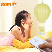 Dimmable Hot Air Balloon Creative LED Night Light With Remote Controller USB Rechargeable Kids Gift Bedside Baby Sleeping Lamp(China)