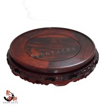 Rosewood are recommended handicraft stone Buddha statues carved mahogany base vase household furnishing articles