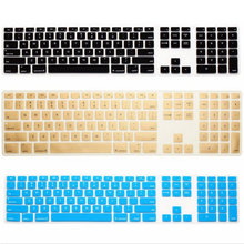 For Apple Keyboard Cover iMac G6 Desktop Protector Flim Colorful Silicone Skin With Numeric Keypad For Mac G5 Skin App(China)