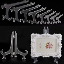 Home Decoration 3 size Plastic Display Stand Dish Rack Plate Bowl Picture Frame Photo Book Pedestal Holder(China)