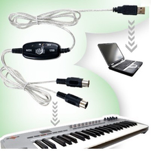 USB MIDI Cable Converter to PC Music Keyboard Adapter+Free Shipping