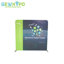 200*200cm Exhibition Booth Stretch Fabric Pop Up Banner With Aluminum Frame,High Quality Portable Advertising Display Backdrop