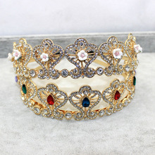 2015 new exclusive European  Queen Crown bridal hair accessories magazine  drill-gems with headband514