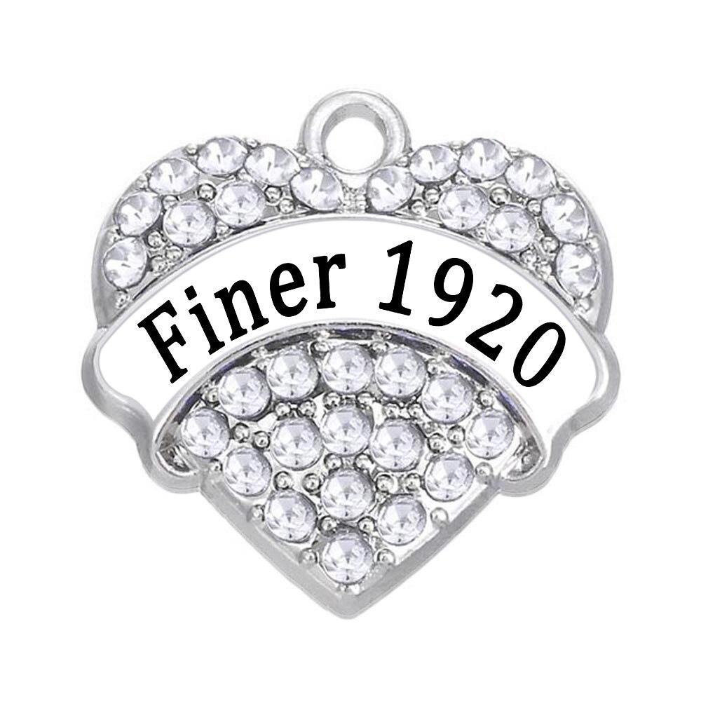 Fashion-University-Greece-ZETA-PHI-BETA-Community-Jewelry-Accessories-Finer-1920-Heart-shaped-Crystal-Charm-Pendant