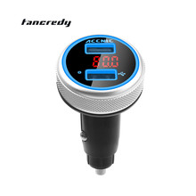 Tancredy MP3 Player Voltage Monitor Detector Bluetooth Handsfree Dual USB Quick Car Charger AdapterCar Bluetooth FM Transmitter(China)